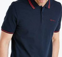 Big mans ben sherman tipped navy polo shirt xxl xxxl 2xl 4xl 5xl 3xl size